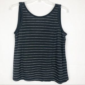 Old Navy | Striped Black Tank Top